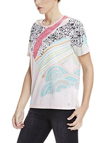 Bench Aop Tee, Camiseta para Mujer Mehrfarbig (CHALK PINK AOP P1004)