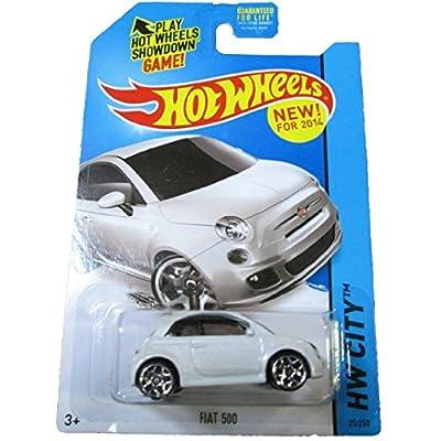 Hot Wheels 2014 HW City Fiat 500 25/250, White: Toys & Games