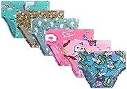 Yzjcafriz Little Girls 100% Cotton Cute Thick Underwear Toddler Briefs Kids Soft Panties
