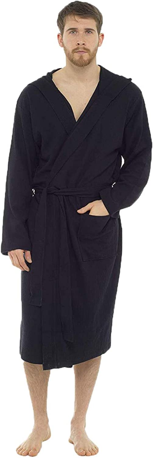 Super Soft Cosy Waffle Mens Dressing Gown CityComfort Mens Waffle Dressing Gown Spa Quality Cotton Bathrobes Medium to Extra Large 100/% Cotton Loungewear