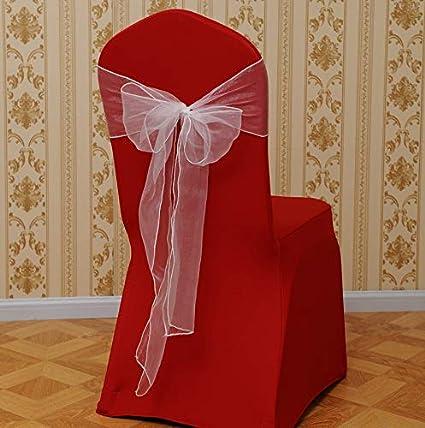 Gaddrt 1 pieza Flower Bow Chair Back Cover Net Sash Back Corbata ...