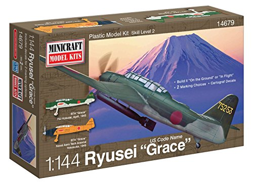 Minicraft Aichi Grace IJN with 2 Marking Options Model Kit, 1/144 Scale (Largest Plane To Land On Aircraft Carrier)