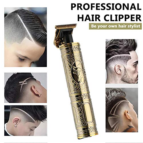 gdfh Professional Electric Hair Clipper Barber Haircut Retro Sculpture Cutter Rechargeable Razor Trimmer Cordless Edge for Men