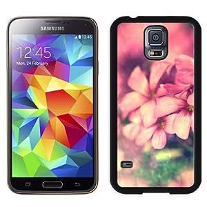 Dreamy Fantasy Pink Flower Circle Bokeh Hard Plastic Samsung Galaxy S5 I9600 Protective Phone Case
