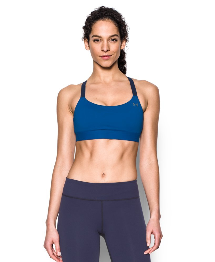 Under Armour Women's Armour Eclipse Bra, Royal /Metallic Silver, Large by Under Armour