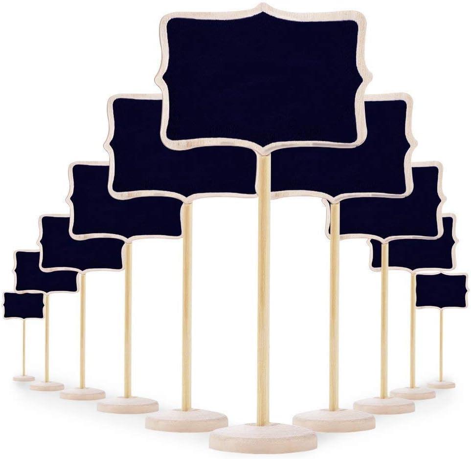 20PCS Mini Lavagna Legno Lavagnette Promemoria Segnaposto,Etichetta Piccola Scheda Messaggi,Lavagna Della Decorazione Del Partito di Wordboard,Segnaposto Per Cartello di Decorazione di Nozze