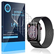 LK [6 Pack] Screen Protector for Apple Watch 40mm Series 4/5 - Max Coverage Bubble-Free Anti-Scratch iWatch 40mm Flexible TPU Film with Lifetime Replacement Warranty