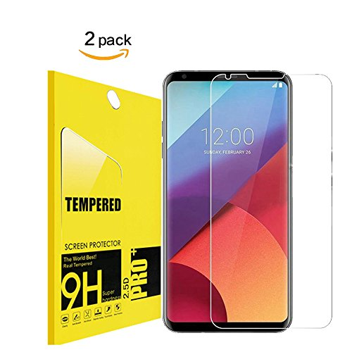 [2 Pack] LG V30/V30 Plus Tempered Glass Screen Protector,Lvvlive[9H Hardness][Ultra Clear][Anti Scratch][Bubble Free] HD Clear Tempered Glass Screen Protector Film for LG v30/v30 plus