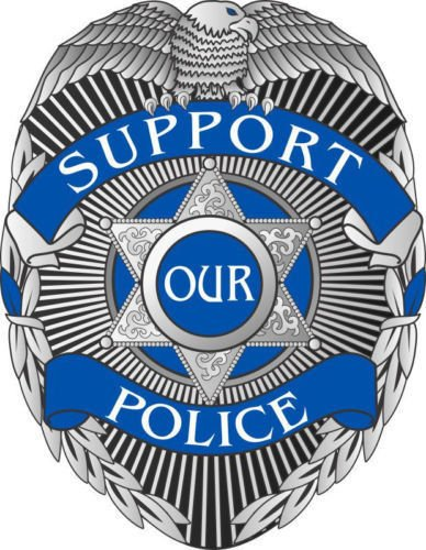 MAGNET Support Our Police Blue Line Badge Window Decal Vinyl Magnetic Sticker 4