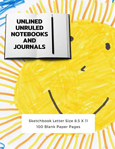 Unlined Unruled Notebooks And Journals Sketchbook Letter Size 8.5 X 11 100 Blank Paper Pages: Diary Journal Notebook Composition Books Writing Drawing Write In Notepad Paper Sheets Volume - Notepad Peacock Feathers