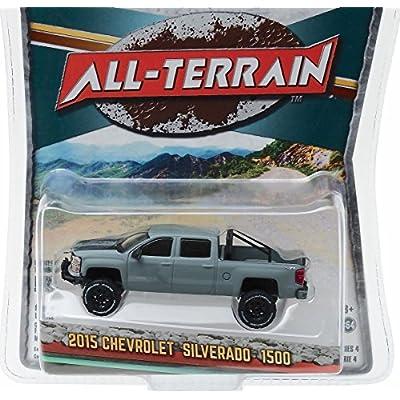 Greenlight New 1:64 All-Terrain Series 4 - Grey 2015 15 Chevrolet Silverado 1500 Diecast Model Car: Toys & Games