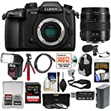 Panasonic Lumix DC-GH5 Wi-Fi 4K Digital Camera Body with 12-35mm Lens + 64GB Card + Backpack + Flash + Battery + Tripod + Microphone + Kit