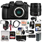 Panasonic Lumix DC-GH5 Wi-Fi 4K Digital Camera Body with 12-35mm Lens + 64GB Card + Backpack + Flash + Battery + Tripod + Microphone + Kit
