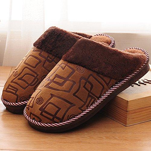 pantofole in antiscivolo e inverno scarpe donne uomini caldi autunno J cotone pantofole In home e di di YMFIE tgRq66