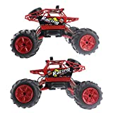 Fistone RC Car Amphibious Rock Crawlers 2.4G Off Road Bigfoot Vehicle 4WD Buggy Remote Control Climbing Monster Truck Electrics Hobby Toy Drive On Water and Land Red