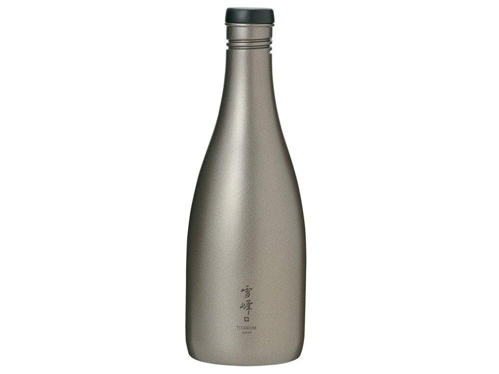 Snow Peak Men's Titanium Sake Bottle, Silver, One Size