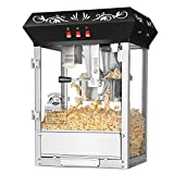 Superior Popcorn Company 8 Ounce Top Countertop Movie Night Popper Machine, 8 oz, Black