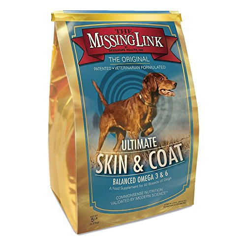 Skin Supplements Dogs Coat (The Missing Link - Original All Natural Superfood Dog Supplement- Balanced Omega 3 & 6 to support Healthy Skin & Coat – Skin & Coat Formula – 5 lbs.)