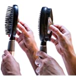 Self Cleaning Hair Brush - Easy Clean Retractable Bristles - Patented Detangler by Qwik Clean