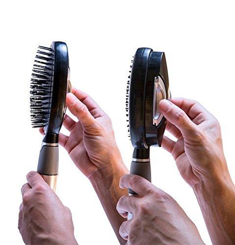 Self Cleaning Hair Brush - Easy Clean Retractable Bristles -