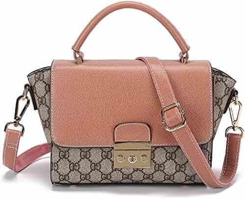 39c5aacc77f6 Ping Bu Qing Yun Shoulder Bag - Faux Leather/Fabric, Retro Simple Fashion  Wild