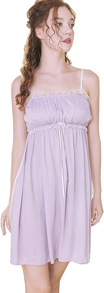 1960s – 1970s Lingerie & Nightgowns Flwydran Womens Sleepwear NightgownSpaghetti Strap Nightdress Cotton Sleeveless Victorian Nightshirt $19.88 AT vintagedancer.com