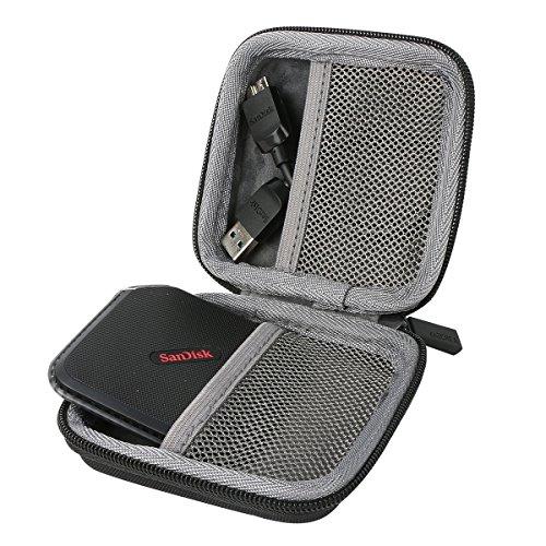 für SanDisk Extreme 500 Portable SSD External Solid State Drive Festplatte 120GB 240GB 480GB Shockproof Hart Storage Reise Lagerung Tragen Taschen Hülle von co2CREA