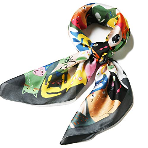 (Satin Silk Scarfs for Women 27