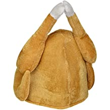 Oliasports Plush Thanksgiving Day Halloween Roasted Turkey Hat