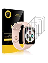 LK [6 Pack] Screen Protector for Apple Watch Series 4 44mm, [HD Clear Anti-Bubble] with Lifetime Replacement Warranty
