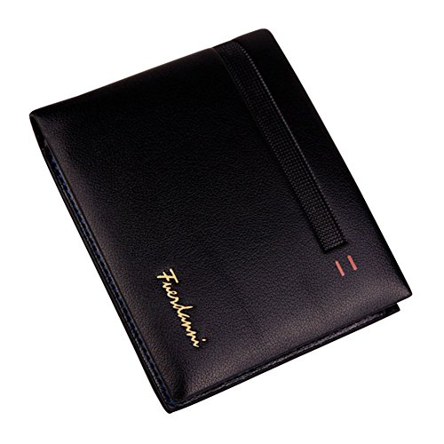 Stylish Men Bifold Wallet with RFID Blocking Slim Minimalist Front Pocket Wallet (Black Men Wallet)