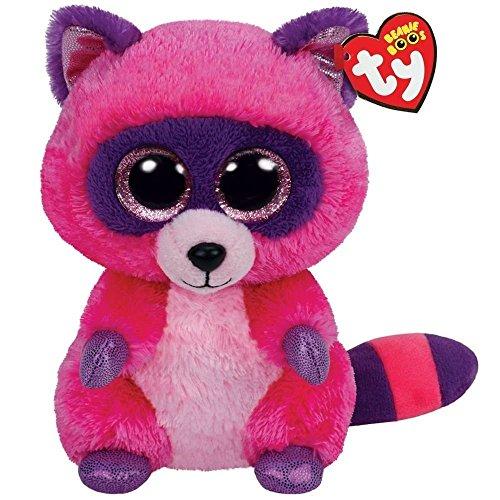 Ty Beanie Boos Roxie The Pink/Purple Raccoon (Purple Raccoon)