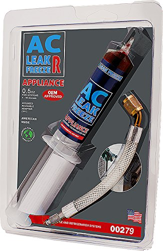 Ac Refrigerator (Rectorseal 45302 AC Leak Freeze R, 0.5 Oz, Red)