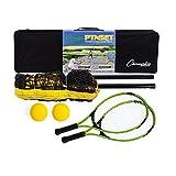 Champion Sports Juego de Tenis portátil: Raqueta, Pelota y Red para 2 Jugadores, 12 pies