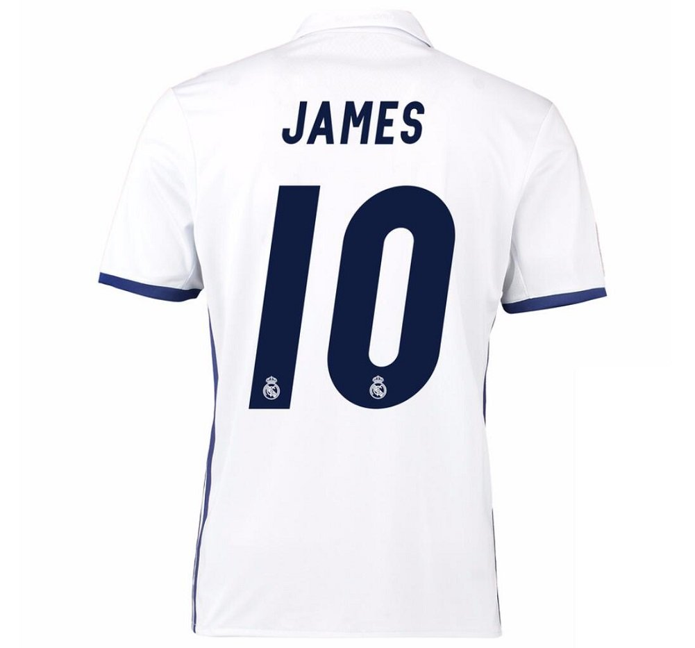 CBUJSS-Sports 2016 2017 Real Madrid CF 10 James Rodriguez Home Football  Soccer Jersey In White  Amazon.co.uk  Sports   Outdoors 862770de17f40