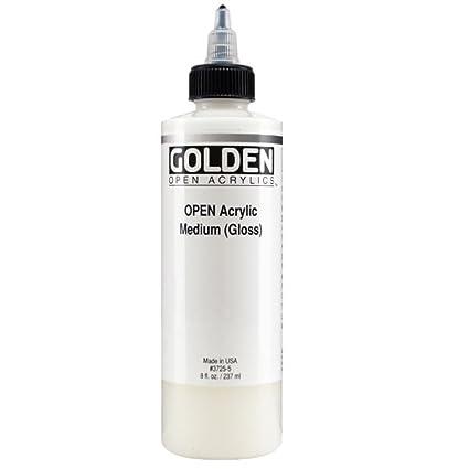 amazon com golden open acrylic medium 8 ounce gloss