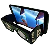 Black Portable Virtual Reality Google Cardboard VR Glasses Goggles with Case