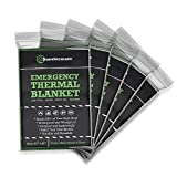 Surviveware Emergency Mylar Blankets (5 Pack). Ideal for Survival, Hiking, Running, Backpacking and Marathons Great for Cars, Bug Out Bags and First Aid Kits