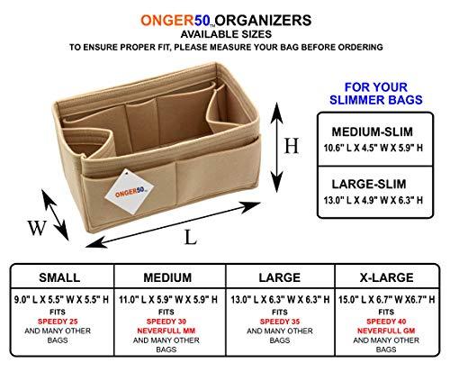 Felt Purse Handbag Tote Organizer Insert - Multi Pocket Storage Liner    Shaper d26058777b0c1