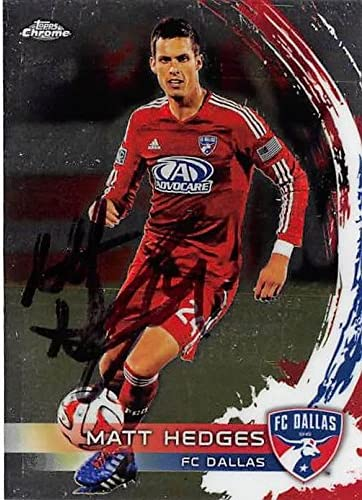 Matt Hedges Autographed Trading Card Fc Dallas Mls Soccer 2014 Topps Chrome 30 Autographed Soccer Cards At Amazon S Sports Collectibles Store