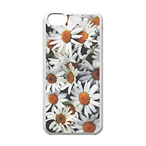 Daisies Custom Case for Iphone 5C, Personalized Daisies Case