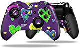 Crazy Hearts - Decal Style Skin fits Microsoft XBOX One ELITE Wireless Controller (CONTROLLER NOT INCLUDED)
