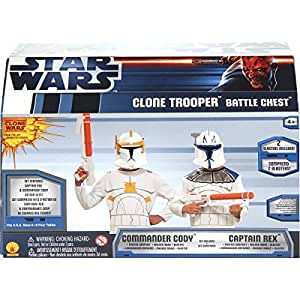 Star Wars The Clone Wars Clone Trooper Costume Battle Chest, Child Size 8 to 10
