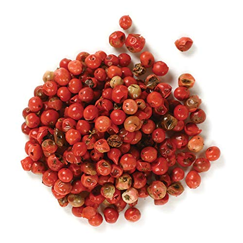 Frontier Co-op Peppercorns, Pink Whole, Certified Organic, Kosher   1/2 lb. Bulk Bag   Schinus terebinthifolius
