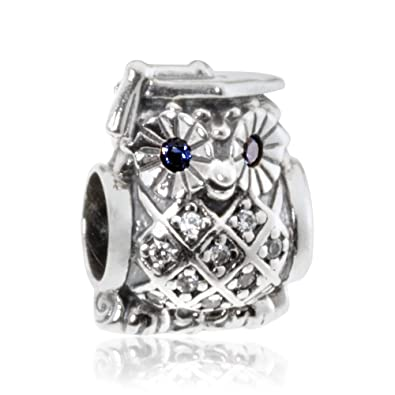 35a118bbc Image Unavailable. Image not available for. Color: Pandora Women's  791502nsb Graduate Owl Charm