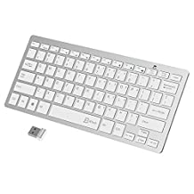 JETech 2.4G Wireless Keyboard for Windows 8 / 7 / Vista / XP (White) - 2161