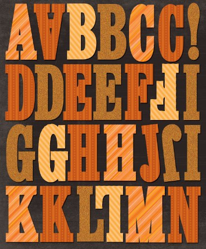 K&Company Orange Stripes Alphabet Die-Cut Stickers