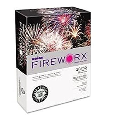 Boise 4 X Fireworx Color Copy/Laser Paper, 20 lb, Letter Size (8.5 x 11), Popper-Mint Green, 500 Sheets (MP2201-GN)