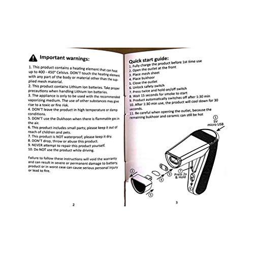 Transer Electric Incense Burner, Portable Arabic Rechargeable Mini USB Power Electric Incense Warmer Heater (Black)