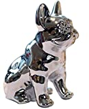 Eastyle Dog Piggy Banks Electroplate Bulldog Coin Bank (Sliver)